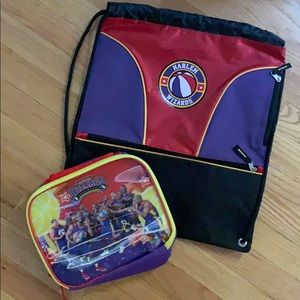 Harlem Wizards lunch box and bag